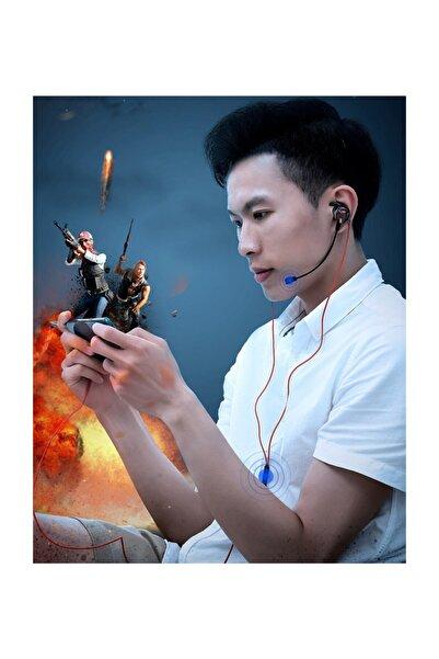 Baseus Gamo H15 3.5mm Mikrofonlu Pubg Oyuncu Kulaklığı Siyah-kırmızı