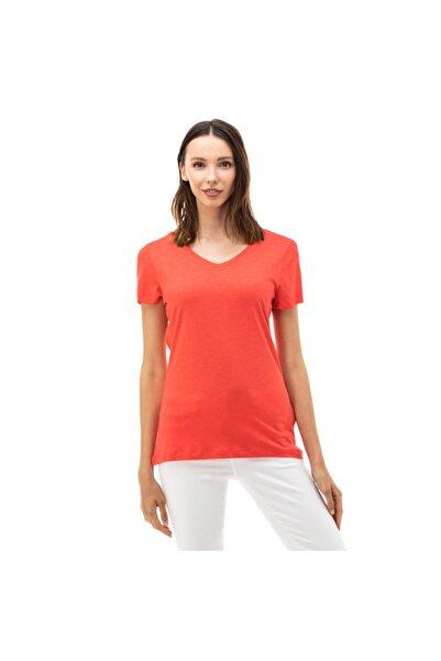 Nautica Nautıca Kadın Kırmızı V-yaka T-shirt