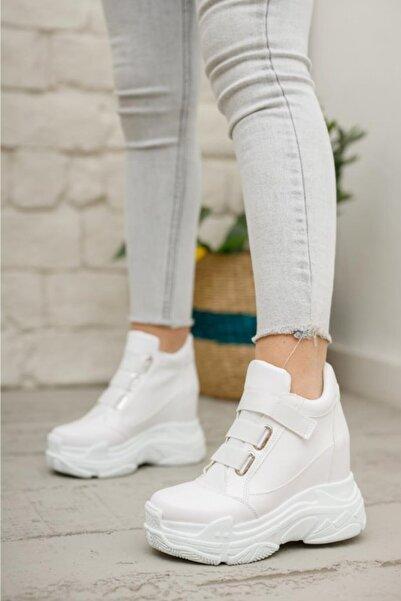 Modanizm Kadın Beyaz Dolgu Spor Ayakkabı