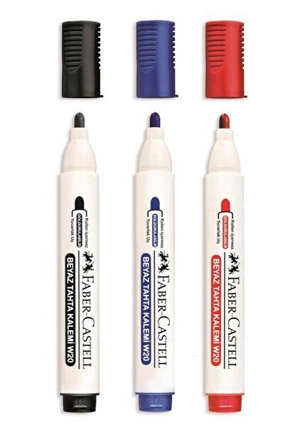 Evbuya Faber Castell Doldurulabilir Beyaz Tahta Kalemi 3 Adet ( Siyah, Mavi,kırmızı)