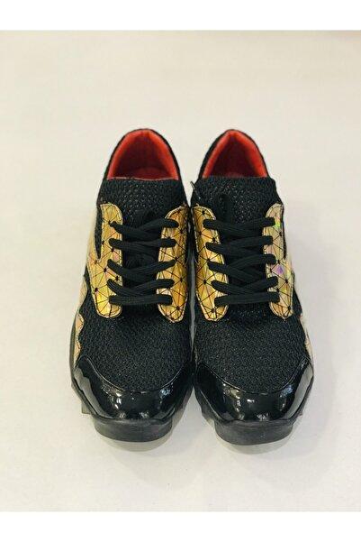 Apex Kadın Gold Siyah Ayakkabı