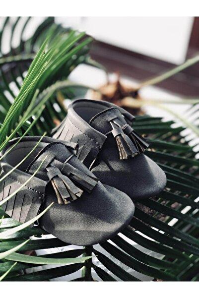 YihuBox Gri Makosen Unisex Bebek Ayakkabı Patik
