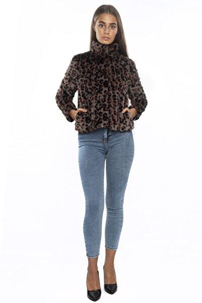 Vero Moda Kadın Haki Leopar Desen Mont 10221212