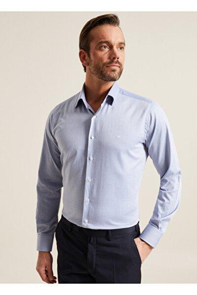 Bisse Regular Fit Armürlü Klasik Gömlek
