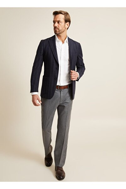 Bisse Slim Fit 6 Drop Çizgili Blazer Ceket