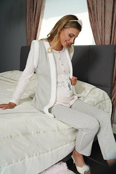 FLZ 3'lü Hamile Pijama Takımı