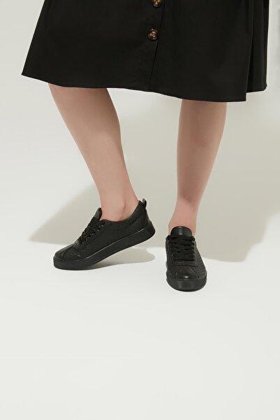 ZİNDİ Kadın Termo Taban Sneaker Ayakkabı Siyah