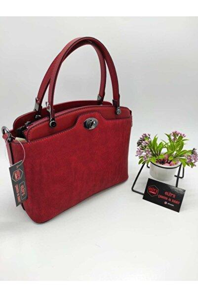 ELİT'S Kadın Kırmızı  Çanta