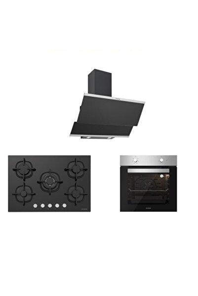 Silverline Inox Siyah Ankastre Set 5 Yıl Garanti (3420 Classy 60+cs5364b01+bo6501x01)