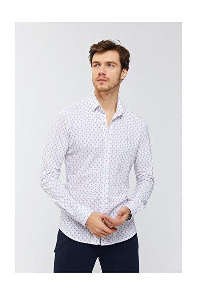 Avva Erkek Kırmızı Baskılı Klasik Yaka Slim Fit Gömlek A91y2138