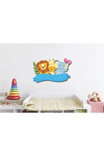Babyroom Aslan-zürafa-fil Ahşap Duvar Süsü