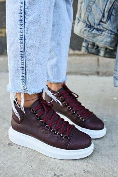 Ch258 Bt Kadın Bordo Sneaker