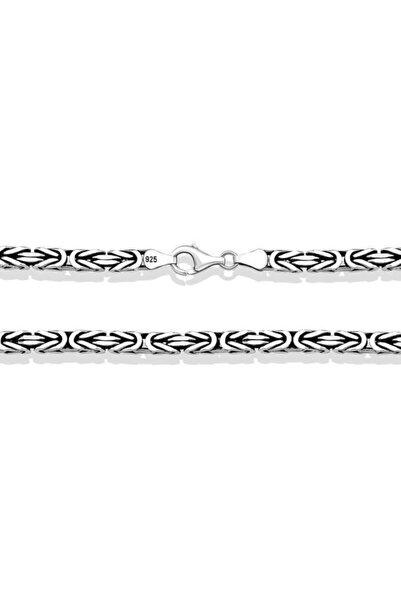 Gumush Gümüş Kral Zincir - 3 Mm Köşeli