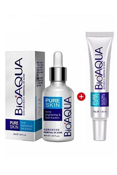 Bioaqua Pure Skin Akne Sivilce Ve Iz Serumu Ve Kremi Seti 2 Parça