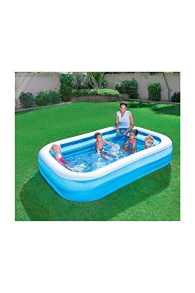 BESTWAY 12819 - Büyük Boy Dikdörtgen Şişme Aile Havuzu (211x132x46cm)