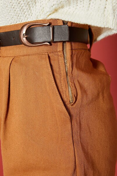 Arma Life Çift Toka Gabardin Pantolon - Sütlü Kahve