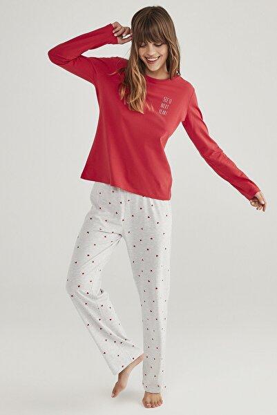 Penti Çok Renkli Base Hearts Pijama Takımı