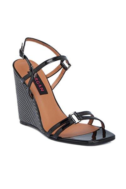 Tergan Siyah Deri Kadın Ayakkabı 64179a07