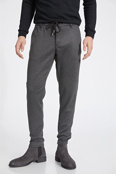 Avva Erkek Siyah Yandan Cepli Jakarlı Beli Lastikli Kordonlu Relaxed Fit Jogging Pantolon A02y3053