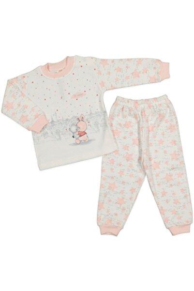 El Bebek Tavşan Baskılı Kız Çocuk Pijama Takımı