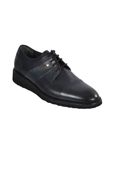 Fosco Lacivert Erkek Hakiki Deri Klasik Ayakkabı