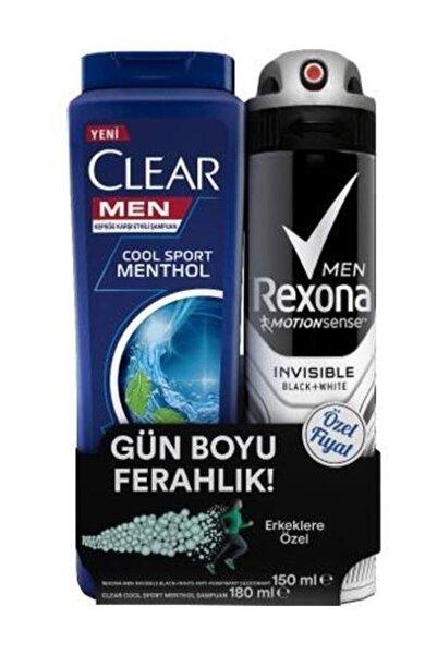 Rexona Deo Men Invisible 150 ml Clear Şamp 180 ml