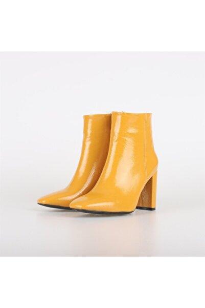 Posse Shoes Alice Kırışık Rugan Bot Hardal