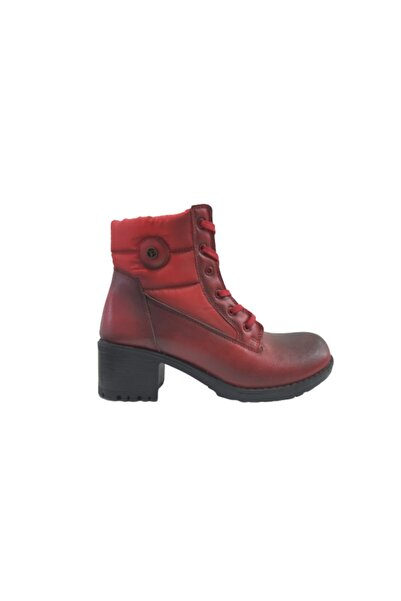 PUNTO Kırmızı Kadın Topuklu Bot