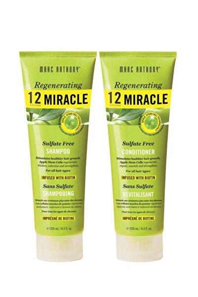 MARC ANTHONY 12 Miracle Sülfatsız Şampuan 250 ml + Saç Kremi 250 ml 6580356563210
