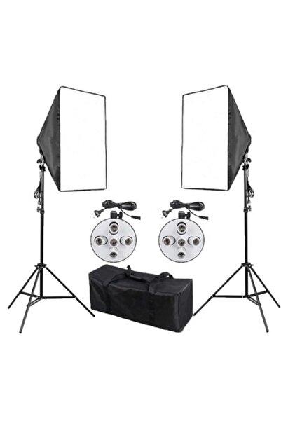 Soligor Softbox 50x70cm Paraflaş 5 Duylu Sürekli Işık 2 Li Set