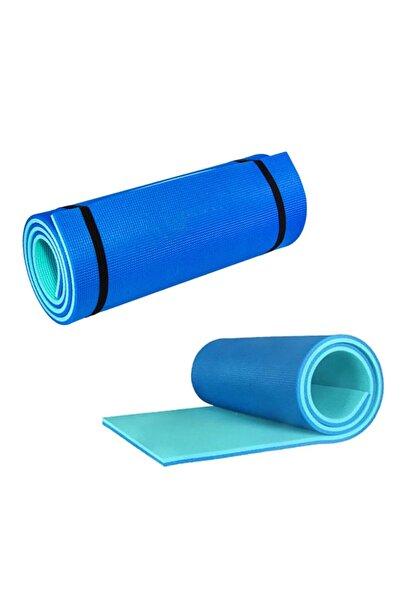 EgeOnline Academy Pilates Minderi Yoga Ve Egzersiz Matı Turkuaz Taşınabilir Askılı 10mm