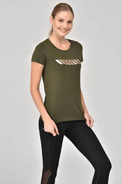 bilcee Haki Kadın T-shirt Ew-3006