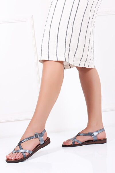 Deripabuc Hakiki Deri Twinkle-1 Kadın Deri Sandalet Dp-0071