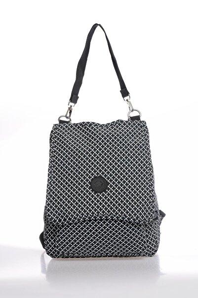 SMART BAGS Smbky1119-0127 Siyah/beyaz Kadın Sırt Çantası