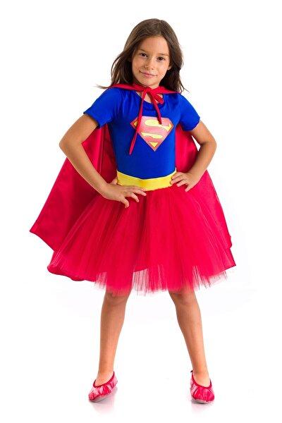Tameris Kostüm Süpergirl Kostümü Kısa Kollu