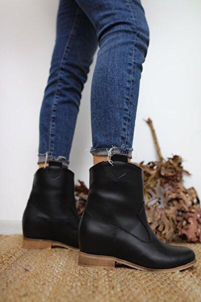 Limoya Kadın Siyah Londyn Gizli Topuk Bot