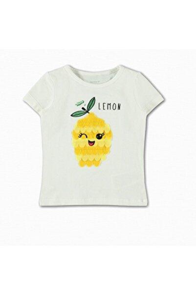name ıt Kız Çocuk Beyaz Limon Baskılı T-shirt