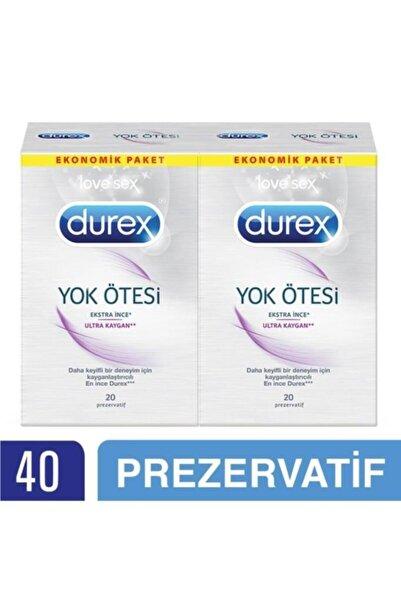 Durex Yok Ötesi Ultra Kaygan Prezervatif, 40'lı Ekonomik Paket