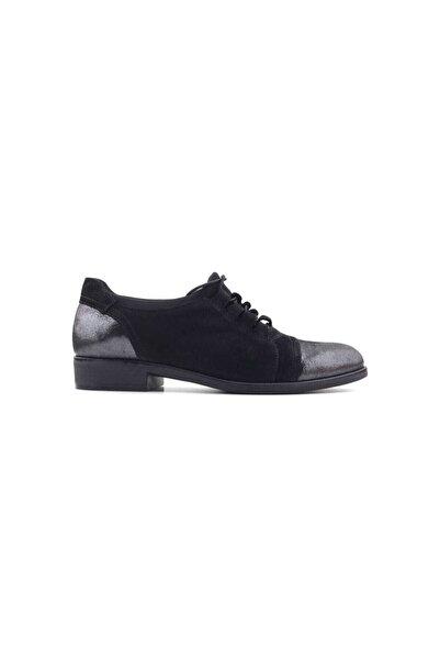 Venüs Kadın Platin Siyah Günlük Ayakkabı