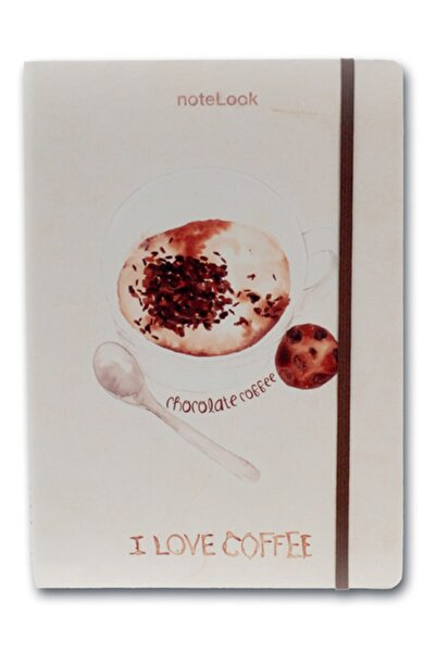 Scrikss Notelook I Love Chocolate Coffee A6 Çizgili