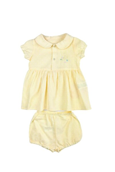 Bebetto 2'li Kız Bebek Elbise Sarı Puantiyeli