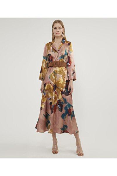 Aker Çiçekli Ipek Elbise V43210300