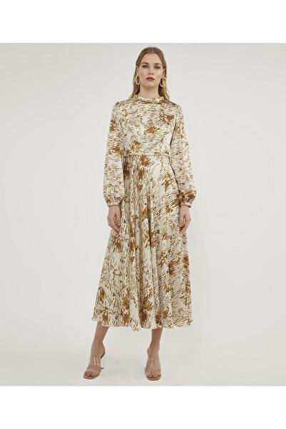 Aker Desenli Elbise V43040170