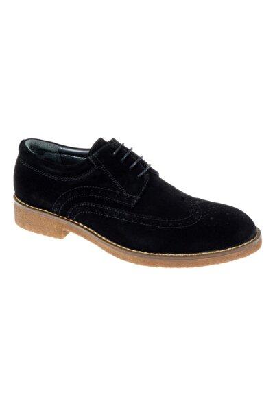 Friendly Hakiki Deri Günlük Erkek Ayakkabı Z-04 Siyah Süet