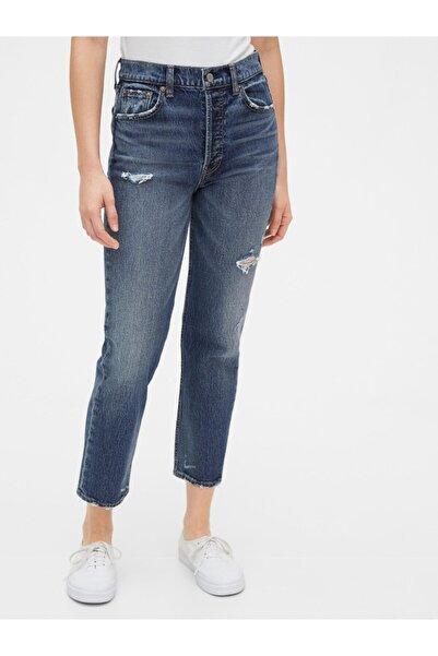 GAP Destructed High Rise Straight Jean Pantolon