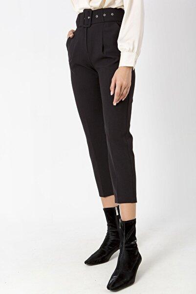 ZİNDİ Kadın Kemerlı Kumaş Pantolon Siyah