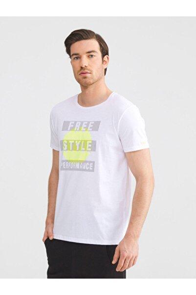 MCL Bisiklet Yaka Pamuklu Slim Fit Baskılı Tişört