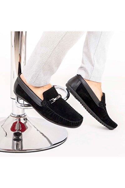 Milano Brava Ortopedik Loafer Erkek Ayakkabı Mln1202 Süet Siyah