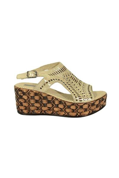 Mammamia 1410 Kadın Deri Sandalet