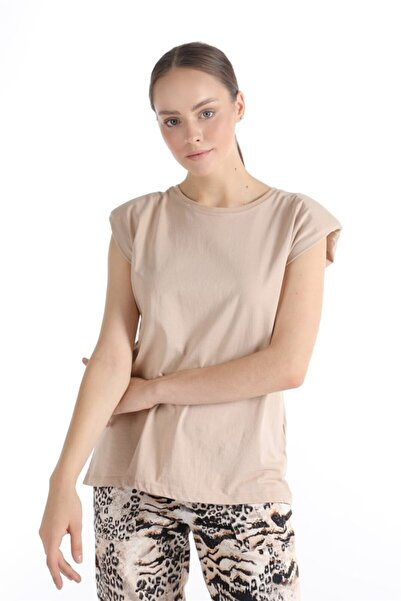 Oblavion Nude Vatkalı Kolsuz Basic T-shirt
